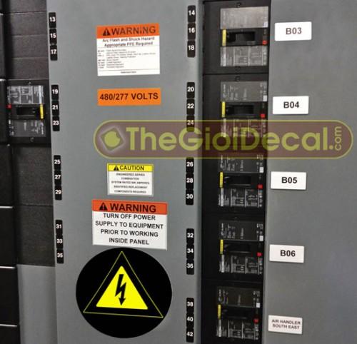 Cắt decal dán tủ điện thoại, tủ điện, bảng điện